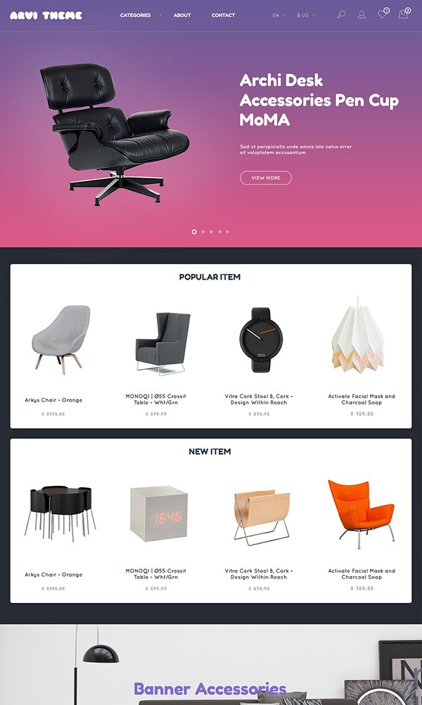 Arvi Free PSD Website Template