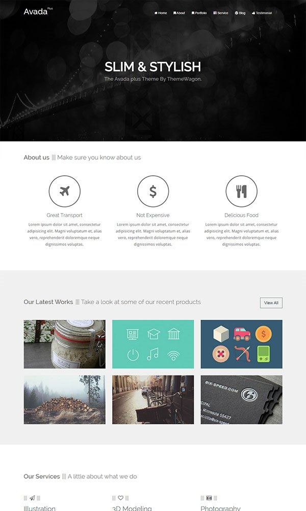 Avada-Plus - Responsive HTML5 Agency Template