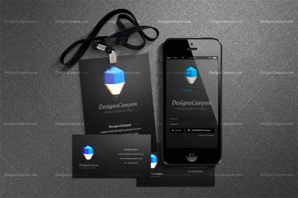 Black PSD Identity Mock-up Template