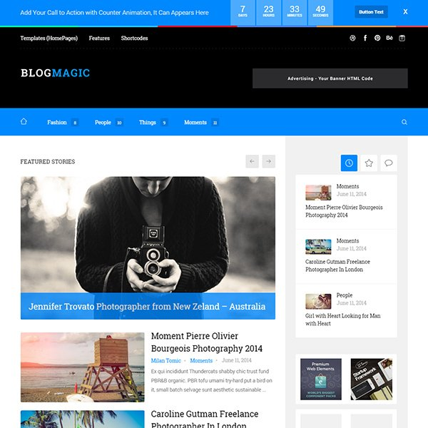 BlogMagic - Clean and Modern WordPress Blog Theme