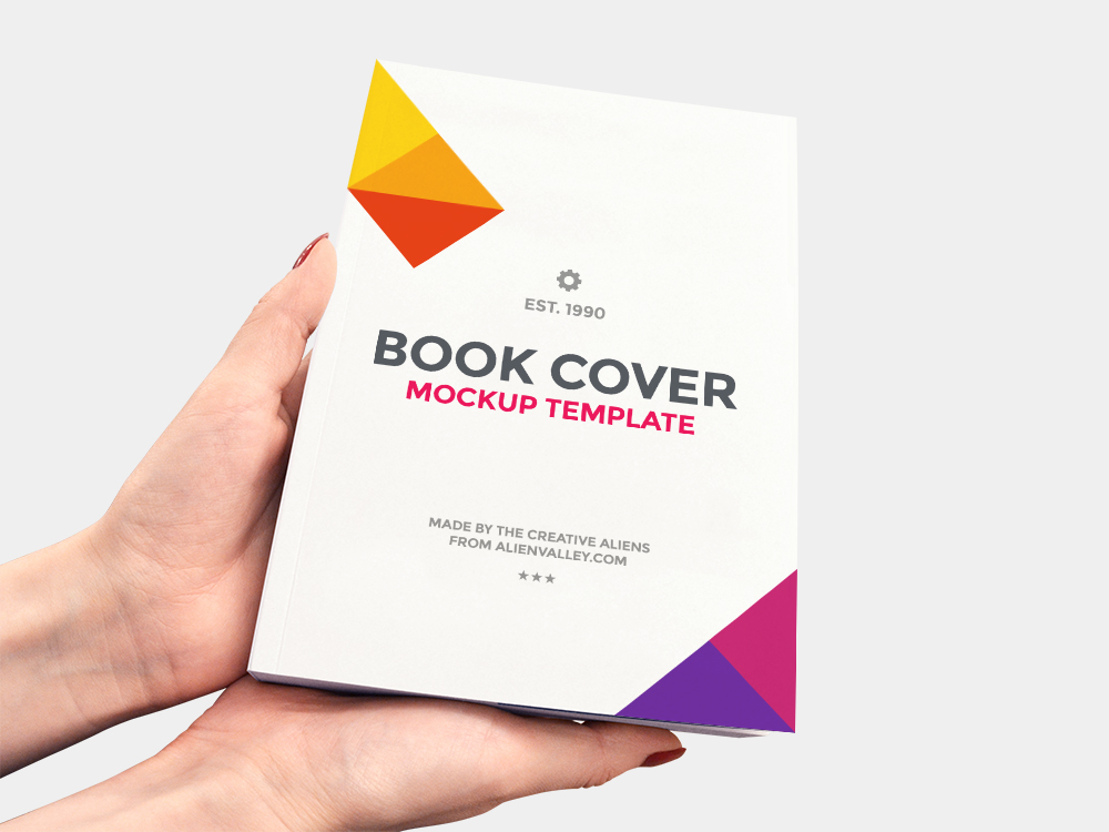 Book in Hand - Free PSD Mockup