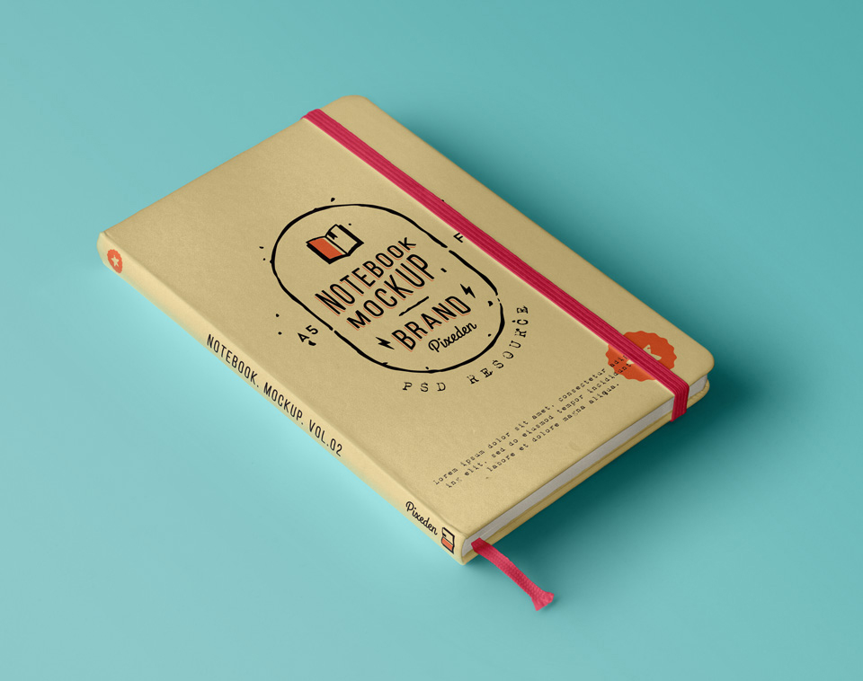 Perspective Notebook Mockup - Free PSD
