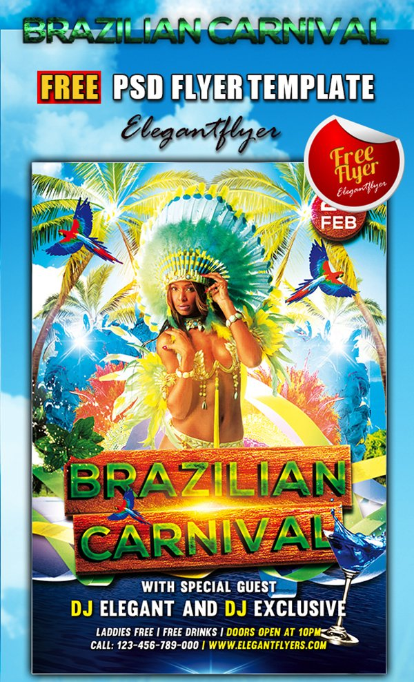 Carnival Flyer Template | 31 Free Party Club Flyer Templates