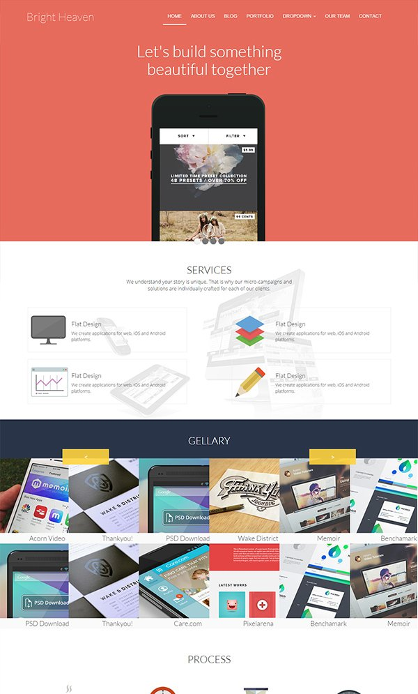 Bright Heaven Responsive Website Template