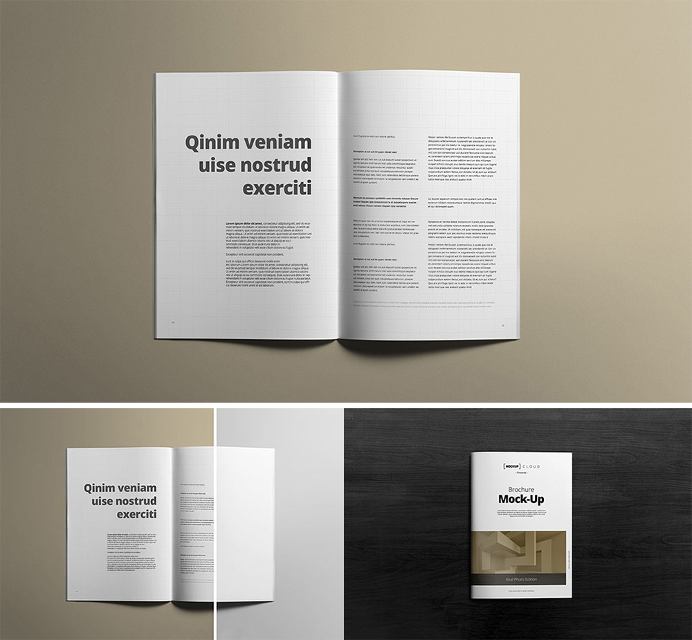 Top View Free A4 Brochure Mockups