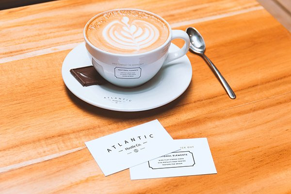 Business Card and Coffee Cup Mockup