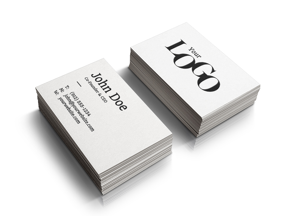Realistic Stacked Business Cards - Free PSD Mockup