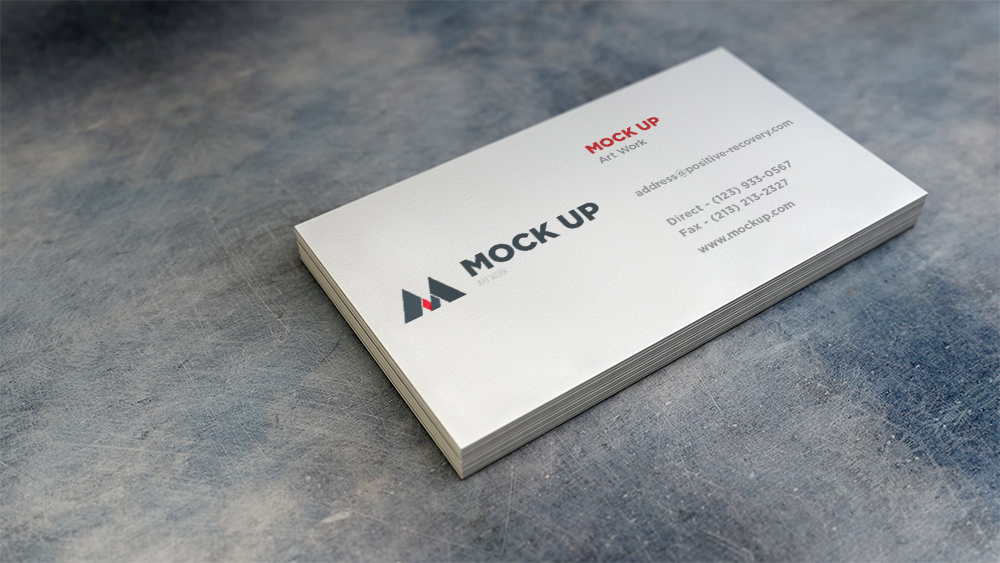 Realistic Stacked Business Cards - Free Mockup