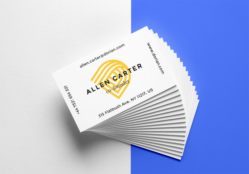 Stylish Stacked Business Cards - Free PSD Mockup