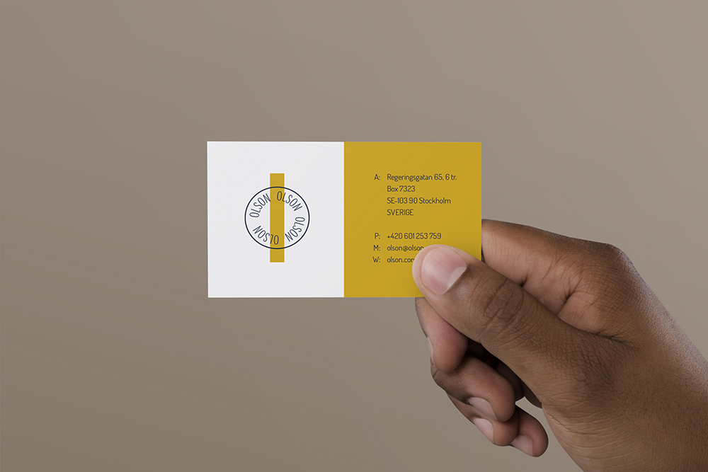 Business Card in Hand - Free PSD Mockup