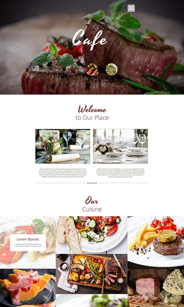 Cafe & Restaurant Free Website Template