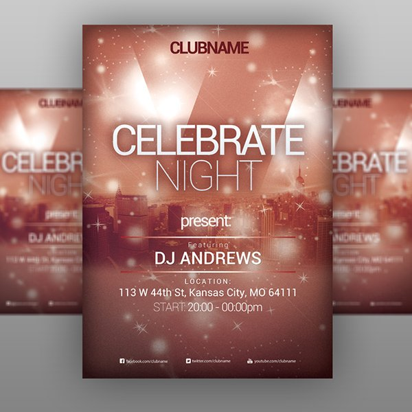Celebrate Night – Party Flyer