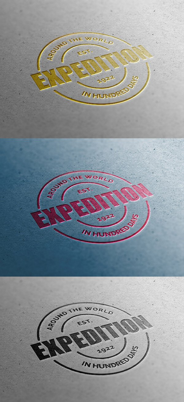 Close-Up Logo Mockup Template