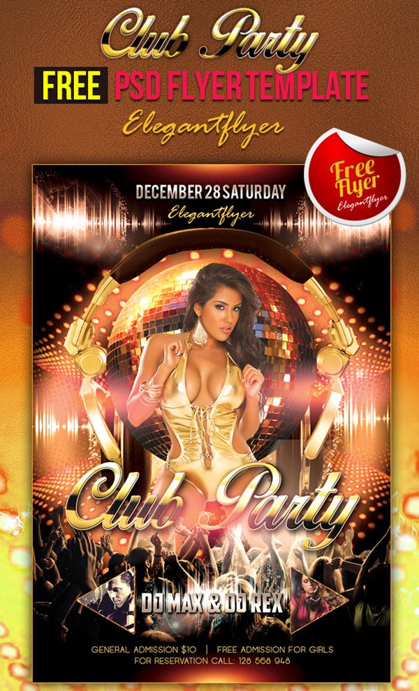 club party nightclub flyer psd