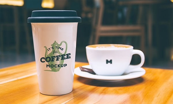 Coffee Mug And Cup - Free PSD Mockup Template