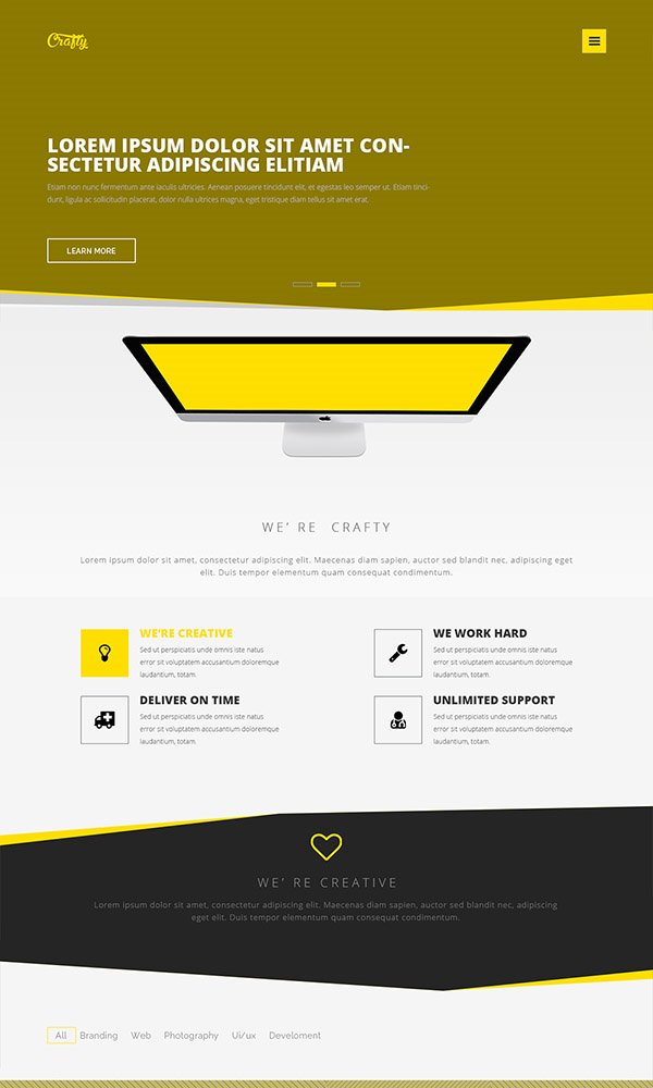 Crafty - Free PSD Web Template