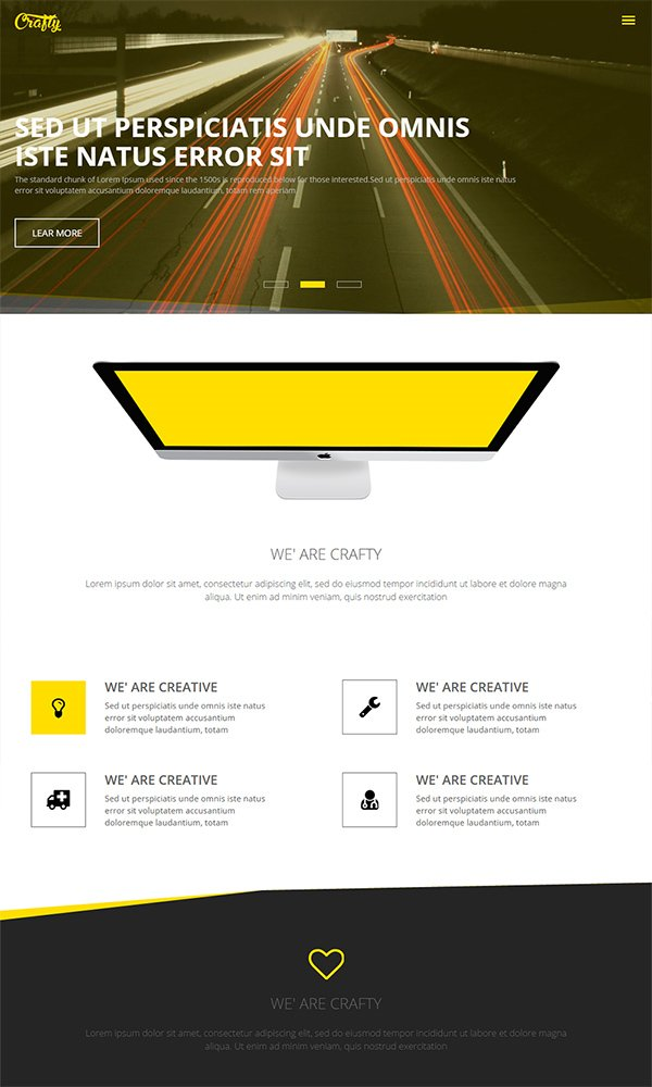 Crafty - A Corporate Multipurpose Responsive Web Template