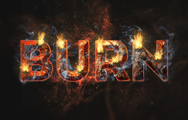Create a Fire and Rust Text Effect Using the Flame Filter in Adobe Photoshop CC