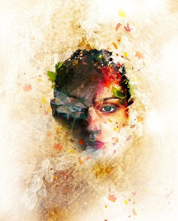 Create Leafy Face Photo Manipulation