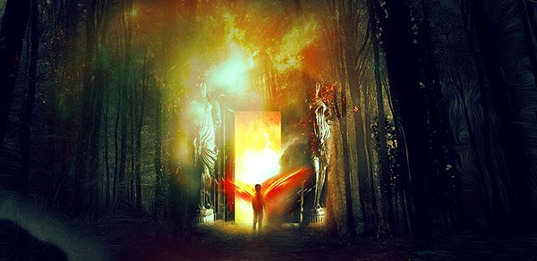 Create Portal to Another Realm Photo Manipulation