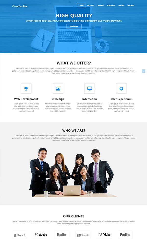 Creative Bee Corporate Web Template
