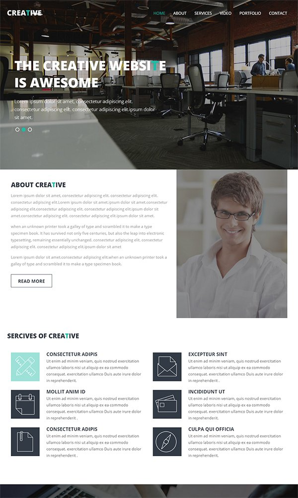 Creative - A Corporate Multipurpose Flat Responsive Web Template