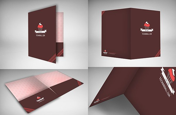 Creative Folder V.3 - Free Mock-up Templates