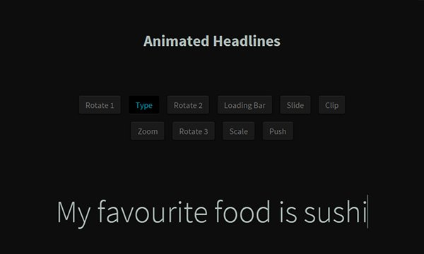 Animated Headlines