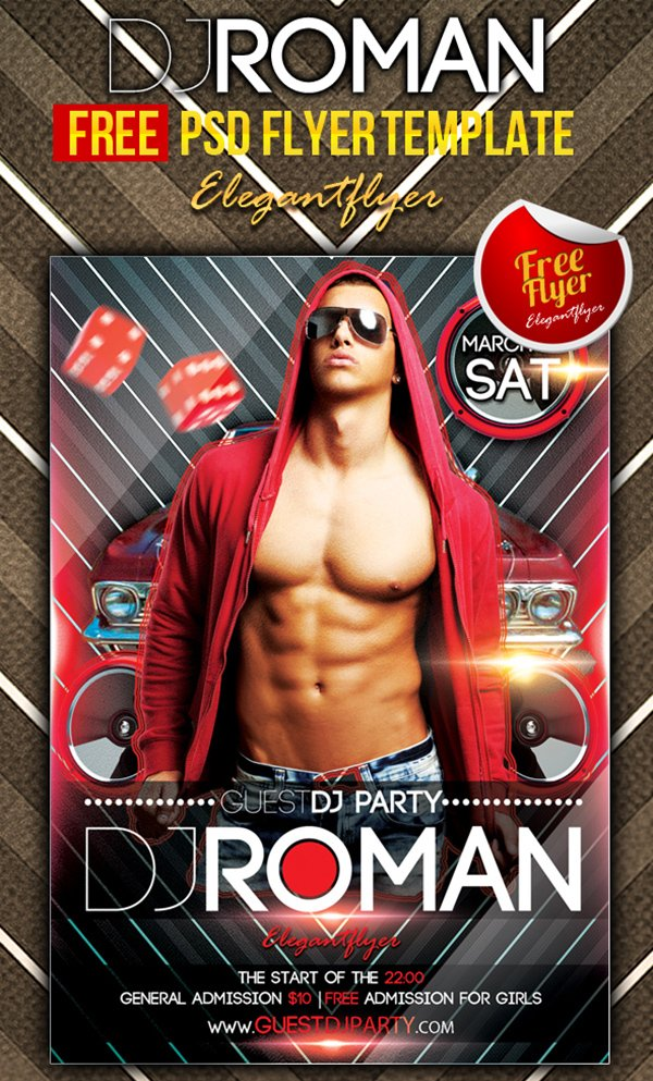 Dj Roman Flyer Template