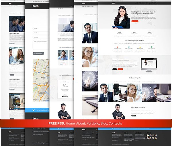 Dott – Free Business PSD Template