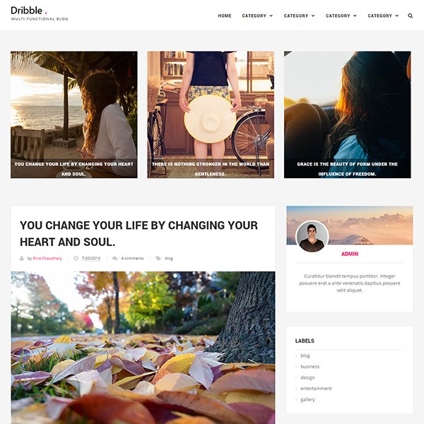 Dribble Clean & Responsive Blogger Template