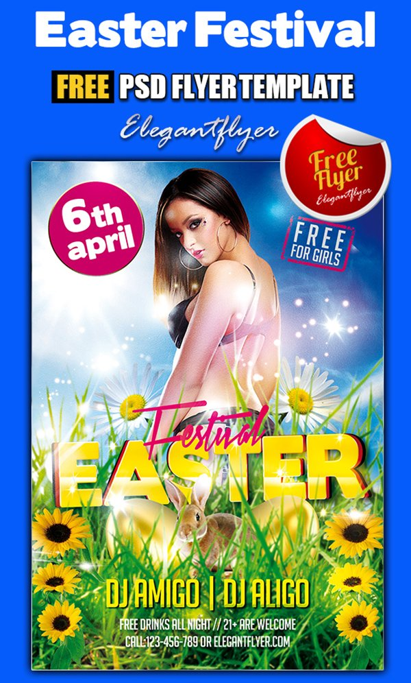 Easter Festival – Free PSD Flyer Template + Facebook Cover