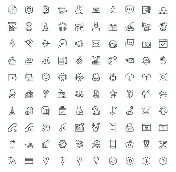 Ego – 100 Vector Icons