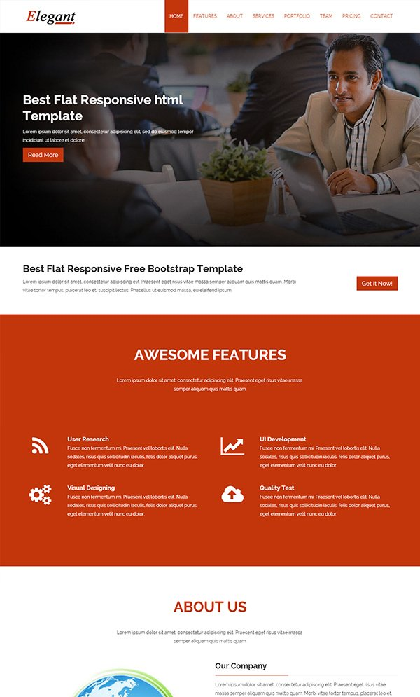 Elegant Multi Purpose Responsive Template