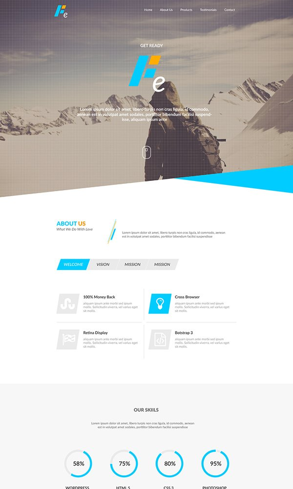 Ethanol - Free PSD Web Template
