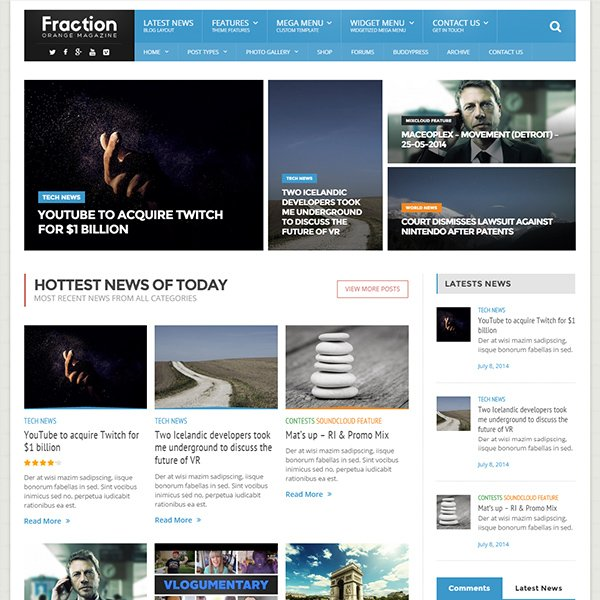Fraction - Multipurpose News, Magazine Theme