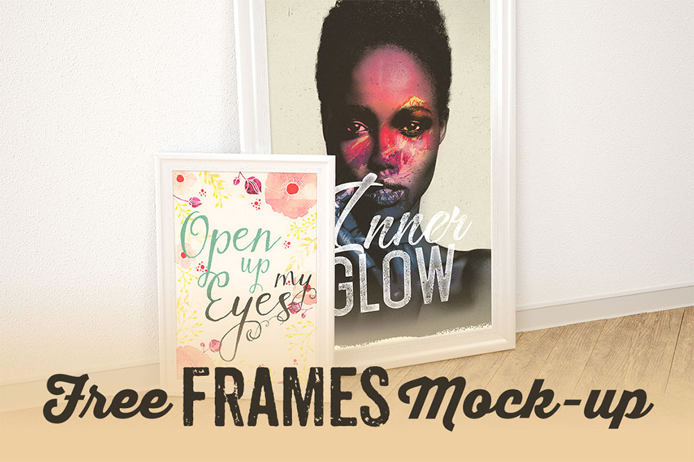 Double Frame Display - Free Mockup