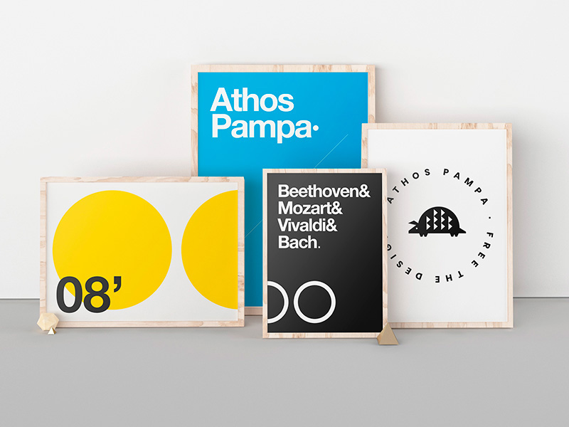 Free Poster Exhibition Mockup