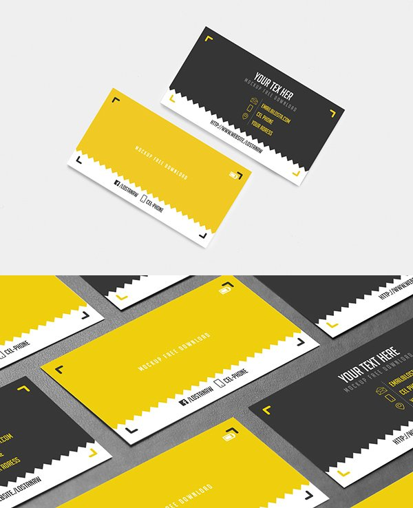 BUSINESS CARD Free Mock-up Template