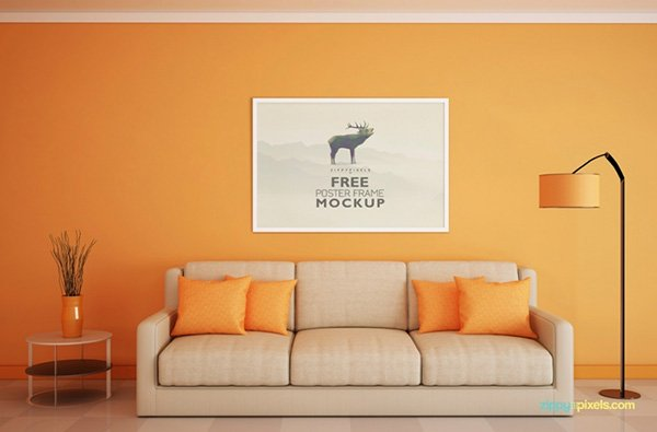 Free Beautiful Poster Frame Mockup