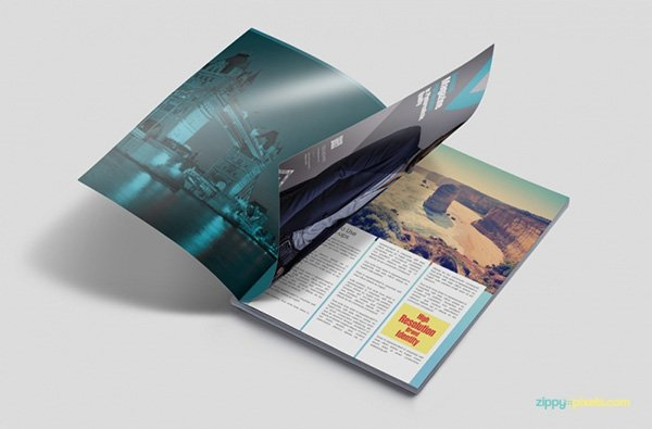 Free PSD Magazine Book Cover Brochure Mockups - Brochure photoshop template