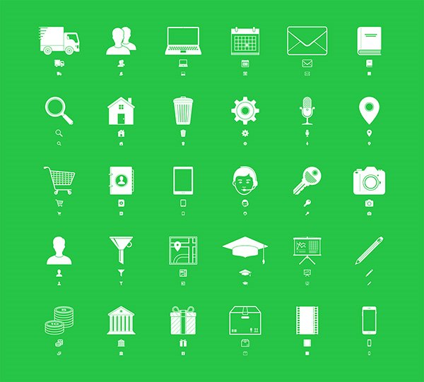 30 Responsive Icons By ICONS8