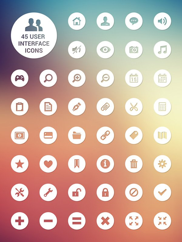 45 Fresh User Interface Icons