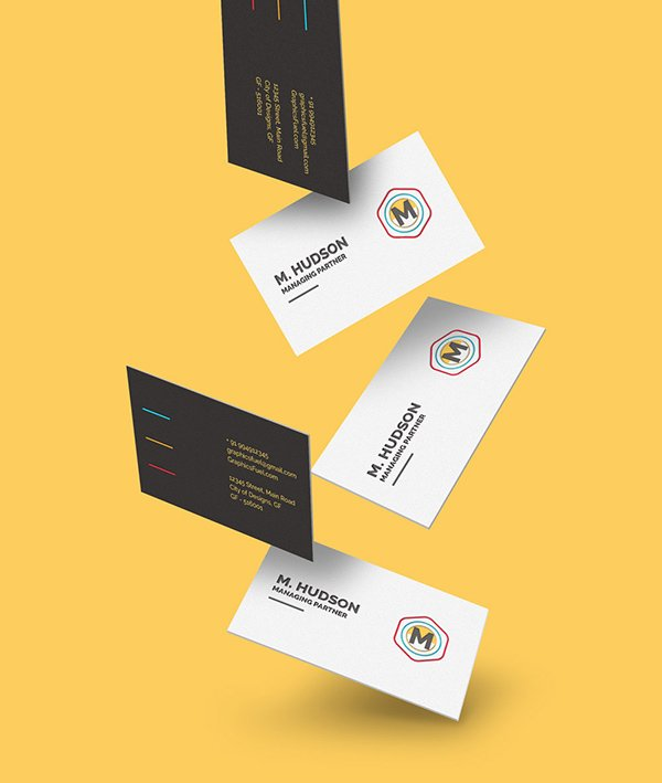 115 free business card mockups free falling business cards mockup reheart Image collections