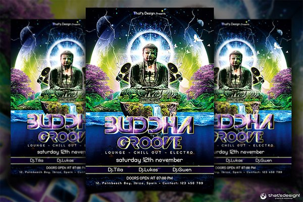 90 awesome psd flyer templates buddha flyer template
