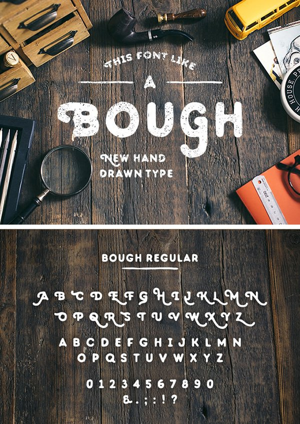 Bough: Hand-Drawn Typeface