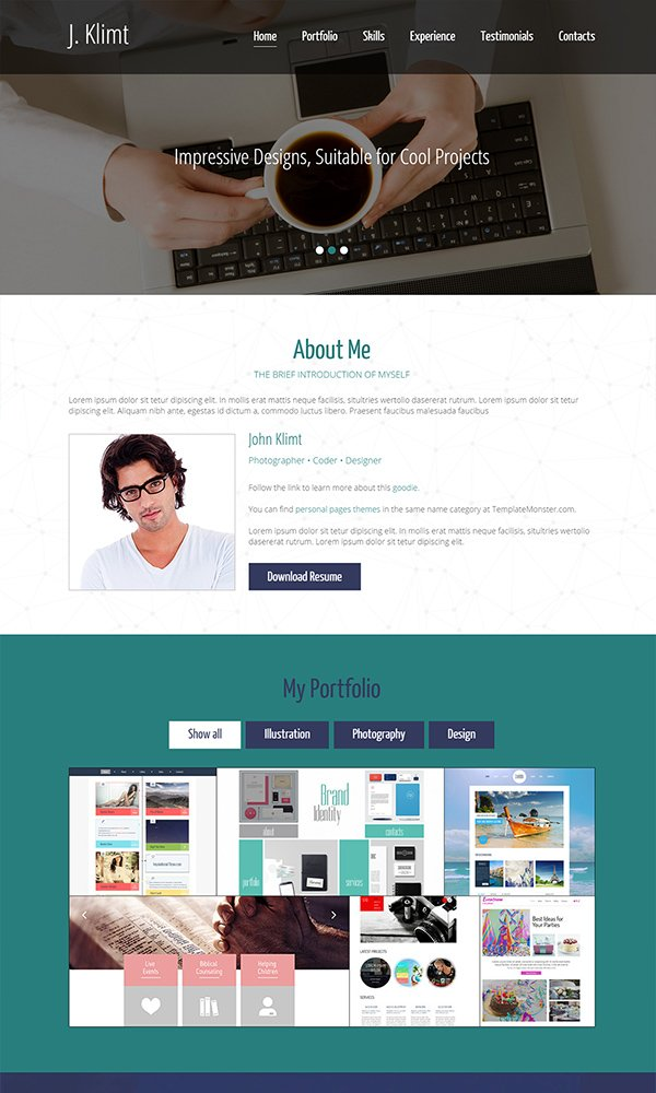 Free HTML5 One Page Template