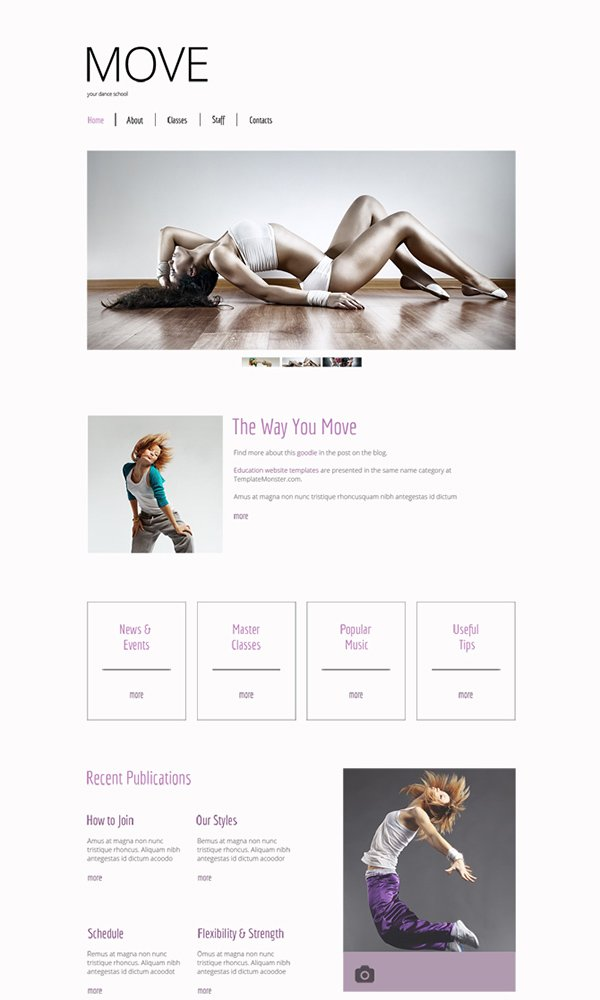 Free HTML5 Template for Dance Studio