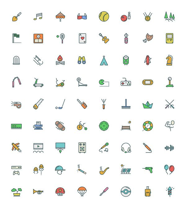 Free Icons for Illustrator and Sketch App
