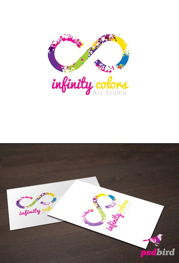 Free Infinity Colors Logo Template PSD